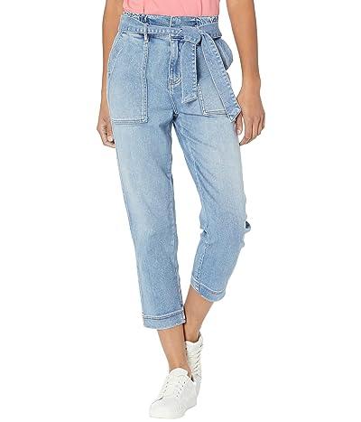 Jag Jeans Utility Super High-Rise Paper Bag Crop Jeans