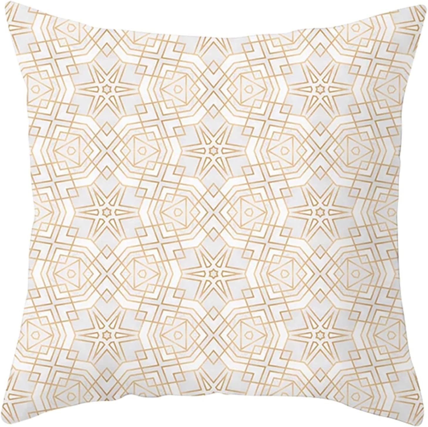 Daesar Decorative overseas Pillow Covers Directly managed store Pillowcases Thr Bed Beige White