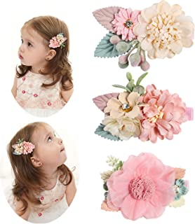 Hair Bow Clips Barrettes Princess's Hair Accessories for Baby Girl Toddlers Teens Kids (Folral)