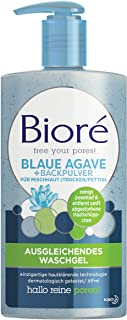 BIORÉ Ausgleichendes Waschgel Mit Blauer Agave Und Backpulver Für Mischhaut, 200 ml