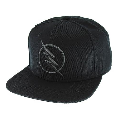 b74c7225c86 DC Comics Black Flash - Zoom Licensed Embroidered Logo Snapback Cap Hat