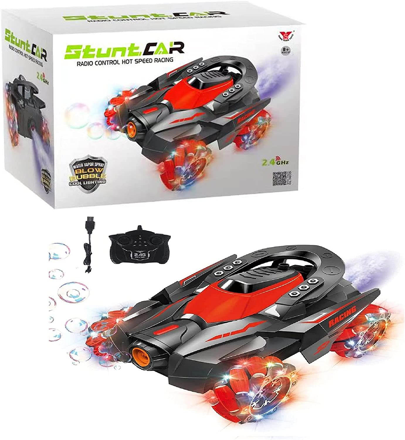 Cheap sale Bubble Spray Remote Control car Stunt with Light Music Safety and trust and S