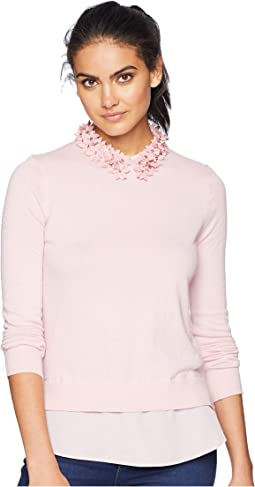 Nansea Floral Collar Mockable Jumper