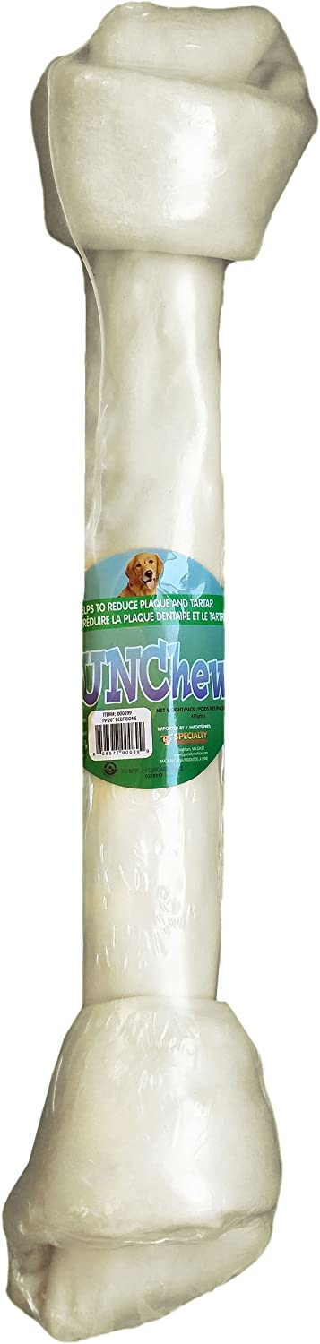 FunChew 000899 1921  Large 100% Natural Rawhide Bone, 1.157 lb