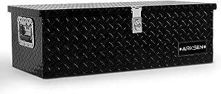 ARKSEN 30 Inch Heavy Duty Aluminum Truck Pick Up Tool Box TruckBed Trailer RV Storage Organizer Lock with keys, Black