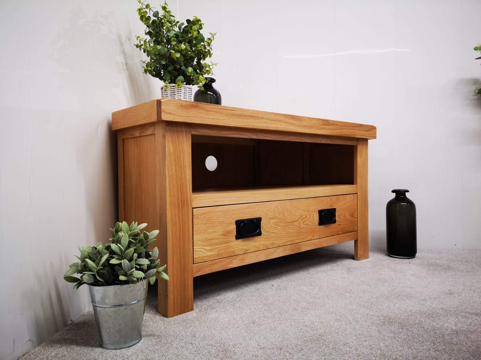 Wahwah Home Kelso - Mueble esquinero para televisor (Madera de Roble): Amazon.es: Hogar