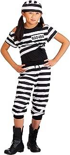 Girls Striped Prisoner Costume