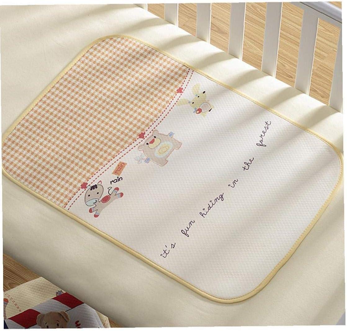 asdfwe 50 70cm Traspirante Impermeabile 4d Bed Pad Riutilizzabile Cambio dei Pannolini Pad Soft Urina Mat Assorbente Bedwetting Materasso per Il Bambino Infant-Grid E Animali del Modello