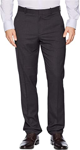 Slim Fit Subtle Heathered Check Dress Pants
