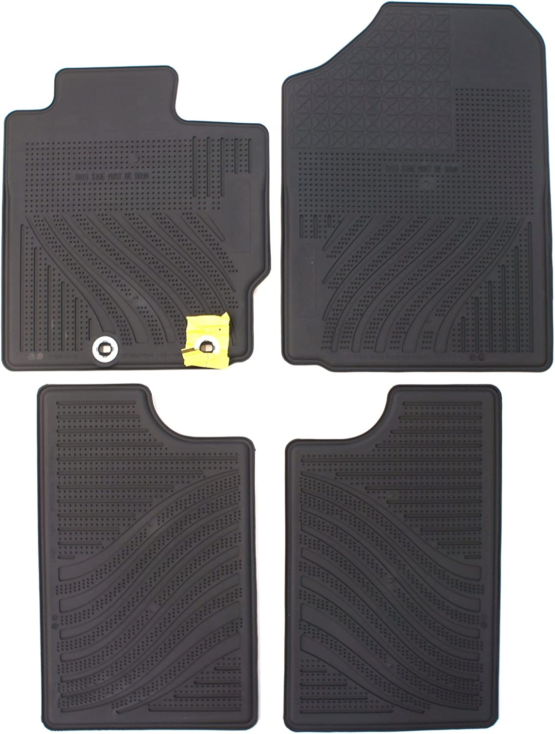 Heavy Duty Total Protection Black Van Trucks SUV PantsSaver Custom Fit Automotive Floor Mats for Toyota Yaris iA 2018 All Weather Protection for Cars