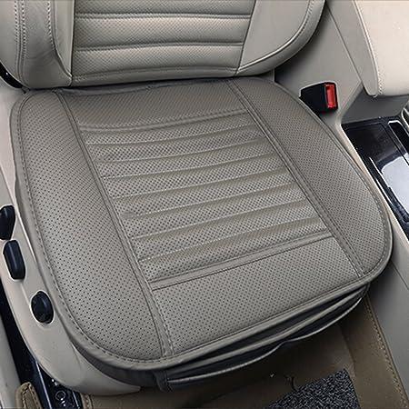 Sitzkissen Universal Sitzauflagen Autositzbezüge Bambuskohle Pu Leder Sitzauflage Grau Auto
