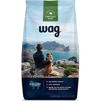 Amazon Brand - Wag Dry Dog Food, 35% Protein, No Added Grains (Beef, Salmon, Turkey, Lamb)