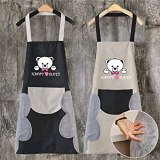 Apron,Hair Salon Work Assistant Work Clothes Barber Hairdresser Hot Dye Only Waterproof Female Clothing Hair Apron Kitchen...
