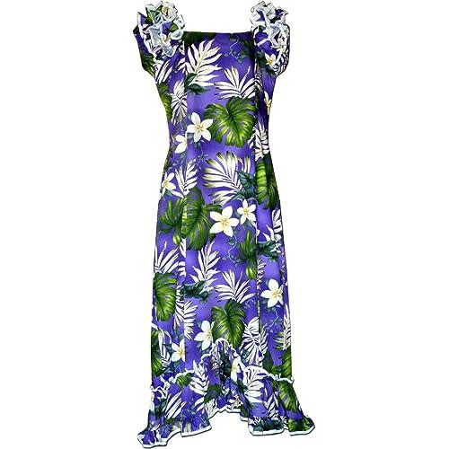 c9214863df0fc Pacific Legend Hibiscus Floral Hawaiian Muumuu Dress