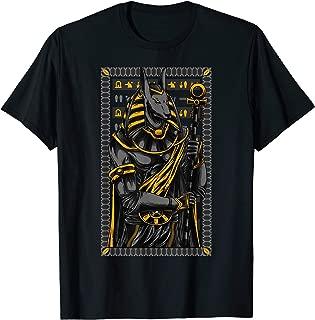 Ancient Egypt Hieroglyph Egyptian God Anubis T-shirt