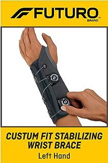 Futuro Futuro Custom Fit Stabilizing Wrist Brace, Left Hand, One Size, Gray, Adjustable