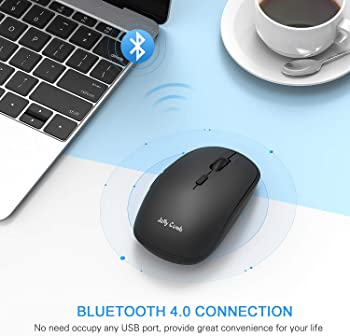 Bluetooth Mouse, Jelly Comb MS023 Wireless Dual Mode (Bluetooth 4.0 + USB) Computer Mice, 3 Adjustable DPI Levels, 6 ...