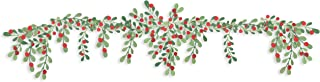 Martha Stewart 30068365 Paper Greenery Garland, Red, Green