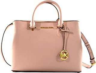 Michael Kors Savannah Saffiano Leather Large Satchel Crossbody Bag Purse Handbag