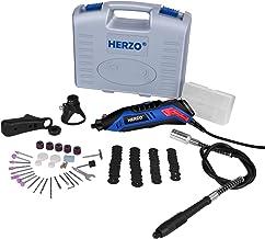 HERZO Mini taladro,Miniherramienta multiuso, Mini Die Grinder Kit, Kit de accesorios de 80 piezas, 135W