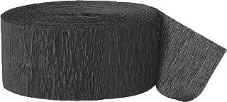 81ft Black Crepe Paper Streamers