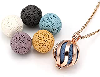 Best essential oil necklace with lava rock Reviews