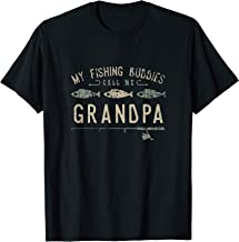 My Fishing Buddies Call Me Grandpa Cute Father's Day T-Shirt