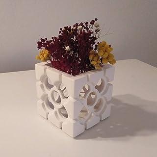 Fioriera cubica traforata Bilbao Rosette, cachepot Bilbao, fiore piastrelle Bilbao, addio al nubilato, Bilbao, matrimonio ...