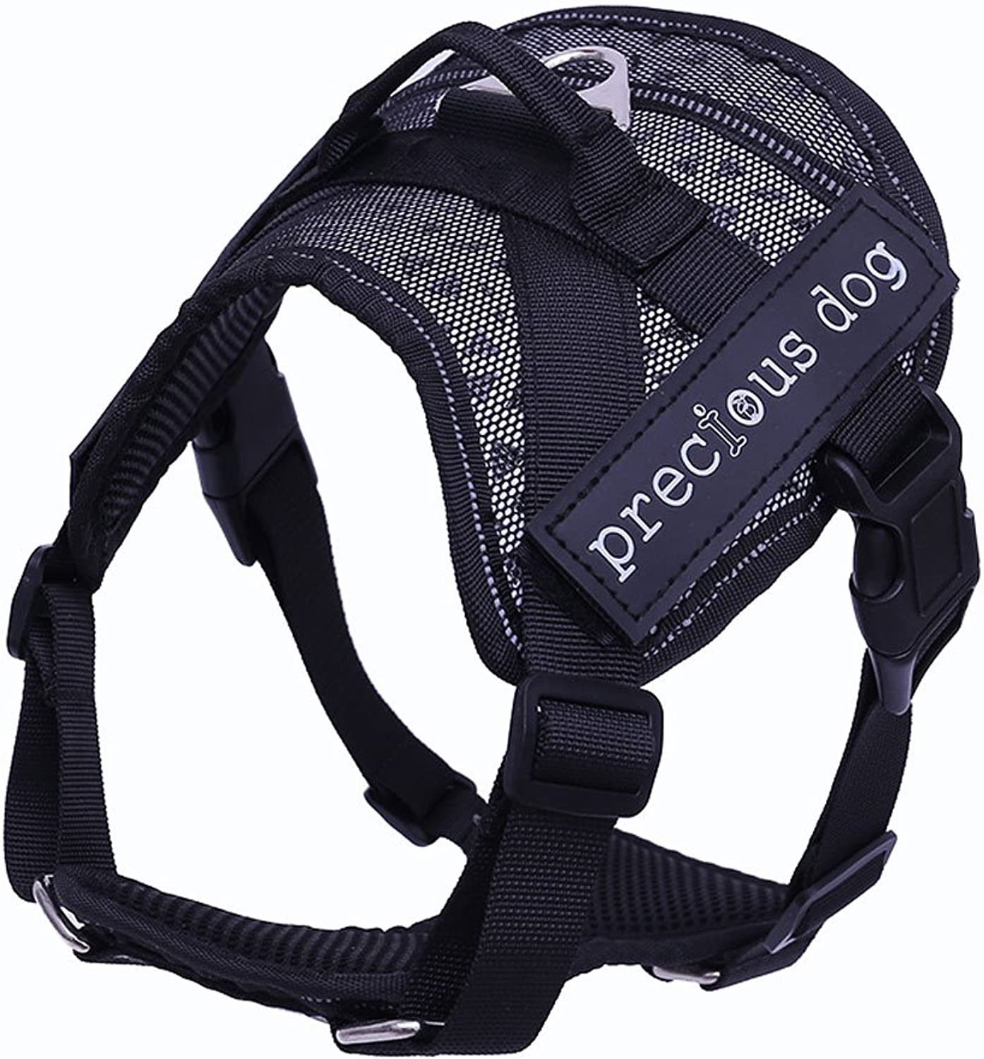 No Pull Dog Walking Harness,Soft Leash Dog Vest Harness, Adjustable, Easy On and Easy Off for Walking and Training, Grey S