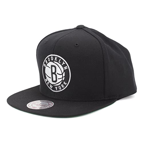 fd253fd851c Mitchell   Ness Men s Brooklyn Nets Solid Snapback Cap