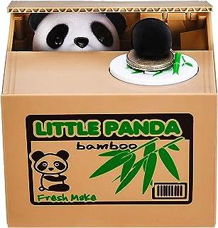 (Panda) - Piggy Bank Mischief Automatic Stealing Money Bank Saving Box Panda Coins Bank Cents Great Christmas/Birthday for...