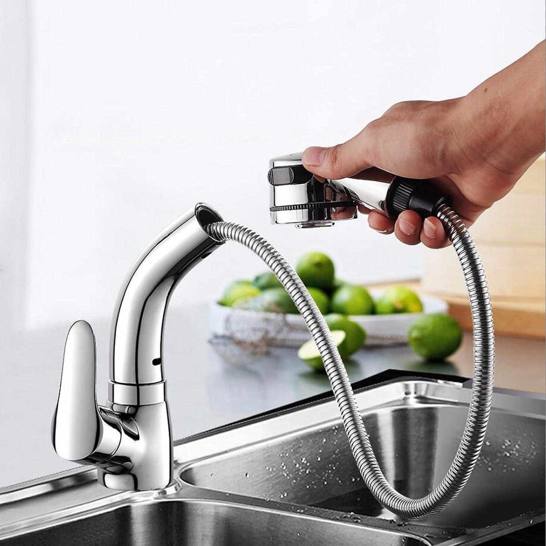NewBorn Faucet Wasserhhne Warmes und Kaltes Wasser groe Qualitt der Küche zu Ziehen Die Cold-Hot Leitungswasser Messinggehuse die ausziehbare Antenne Waschbecken Mischbatterie zu Drehen.