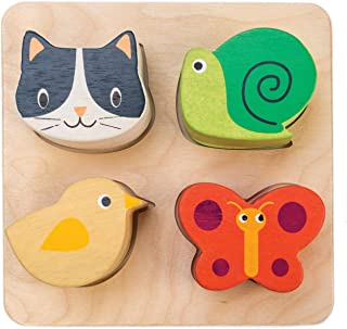Tender Leaf Toys Touch Sensory Trays - Wooden Sound Learning Shape Sorter Game