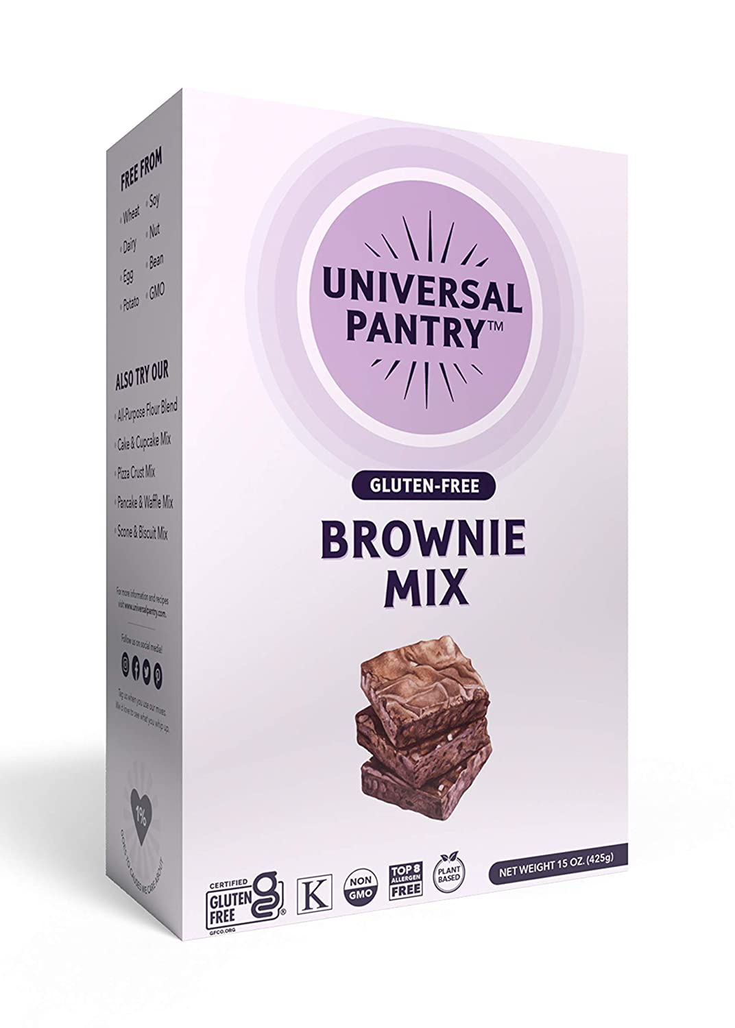 Opening large release sale Universal Pantry Top Attention brand 8 Allergen-Free gluten- Mix. Vegan Brownie