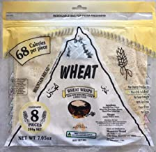 Mountain Bread Natural & Rice Flatbread Wraps | Thin Dry Soft Tortilla | 98% Fat Free, Dairy Free, Yeast Free, Egg Free | Made in Australia | Contains 8 Wraps (Wheat, 2 Pack)