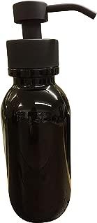 Industrial Rewind 16oz Glass Soap Holder for Foaming Soap, Dispenser for Foaming Bath or Hand Soap (Black/Black)