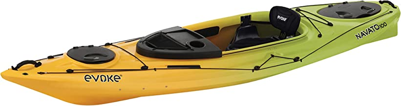 EVOKE Navato 100 Sit in Recreational Kayak, Lemon Lime
