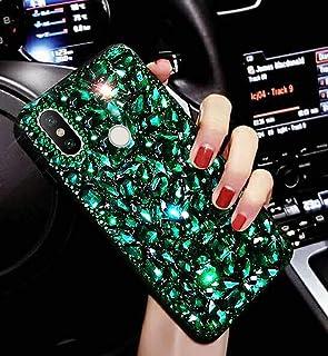 Glitter mobiltelefonfodral för Xiaomi Redmi Note 6 Pro fodral, flicka glänsande strass mobiltelefon skyddsfodral hårt fodr...