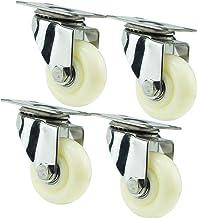 Sywlwxkq 4 stuks, meubels nylon wielen, universele wielen met remmen,304 roestvrij staal, vervangende wielen, slijtvast, t...