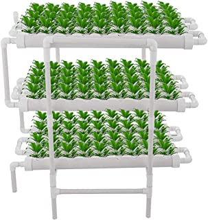 Hydroponic Grow Kit, 12 Pipes 3 Layers 108 Plant Sites Growing Systems with Timer, Vegetable Grow Kit