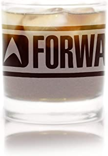 Star Trek: The Next Generation Ten Forward Rocks Glass Special Edition In Universe White Frosted Line Premium Etched By Movies On Glass Includes One Glass - 11 Ounces