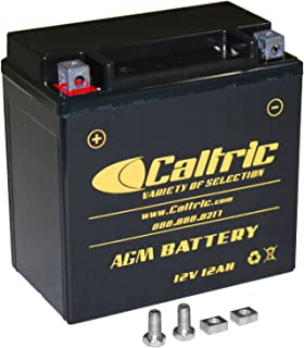 CALTRIC AGM BATTERY compatible with HONDA VT750C VT-750C Shadow ACE 750 Deluxe 1998-2003