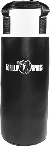 Gorilla Sports Sac de Frappe Noir et Blanc 18 Kg