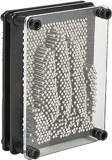 Kicko 3.75 x 5 Inch Classic 3D Pin Art Board - 1 Pc Silver Metal Pinscreen Needle Set - Handprint Sculpture, Novelty Game,...