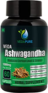 Vedapure Pure & Organic Ashwagandha - 60 capsules