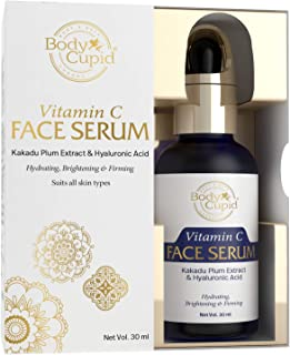 Body Cupid Vitamin C Face Serum with Hyaluronic acid - Hydrates, Brightens & Firms up Skin - 30mL