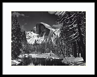 Framed Wall Art Print Half Dome, Winter - Yosemite National Park, 1938 by Ansel Adams 29.00 x 23.00