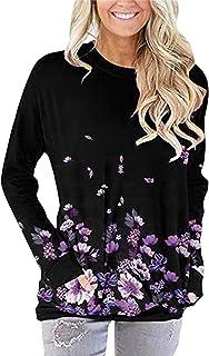 Xmiral Casual losse pasvorm zakhemden voor dames comfortabele schattige, met bloemen bedrukte tuniek bovenstuk blouse