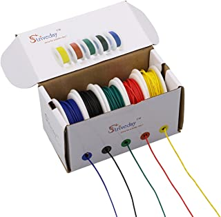 Striveday 18 AWG Flexible 1007 Wire Electric wire 18 gauge Coper Hook Up Wire 300V Cables..