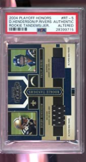2004 Playoff Honors ROOKIE Tandems Philip Rivers Devery Henderson Jersey NFL Graded Football Card PSA AUTHENTIC ALTERED